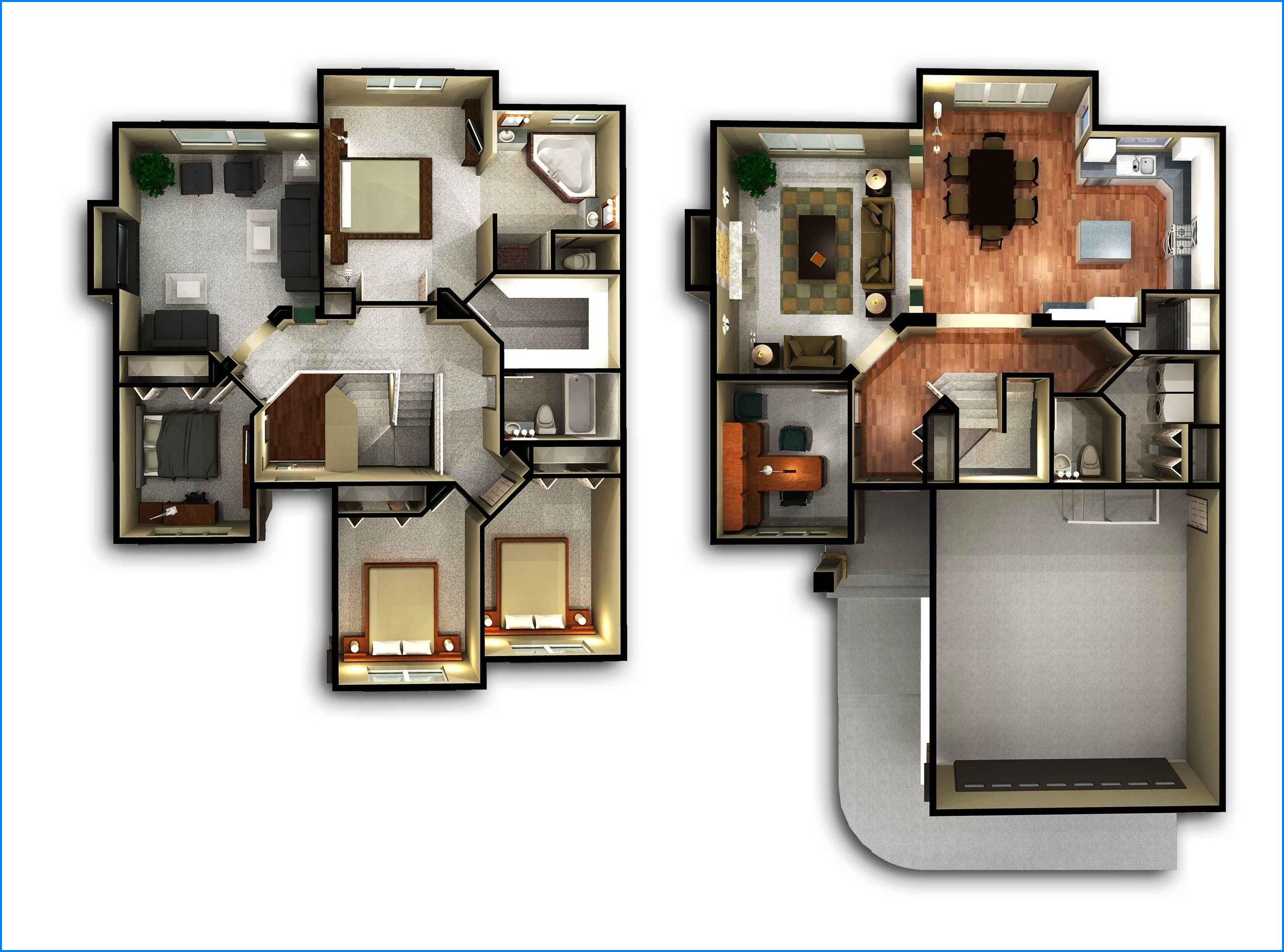 Denah Rumah Sederhana 2 Lantai Minimalis Ukuran Kecil 3d Denah Lantai Rumah Denah Rumah Desain Rumah