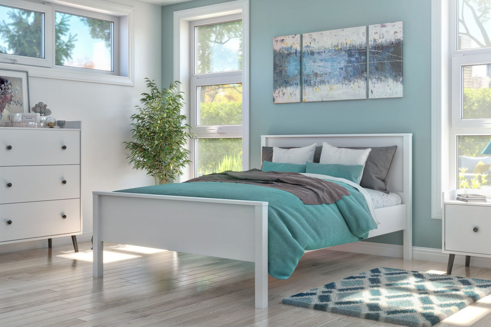 Lit plateforme / Platform Bed in 2020 Bedroom design