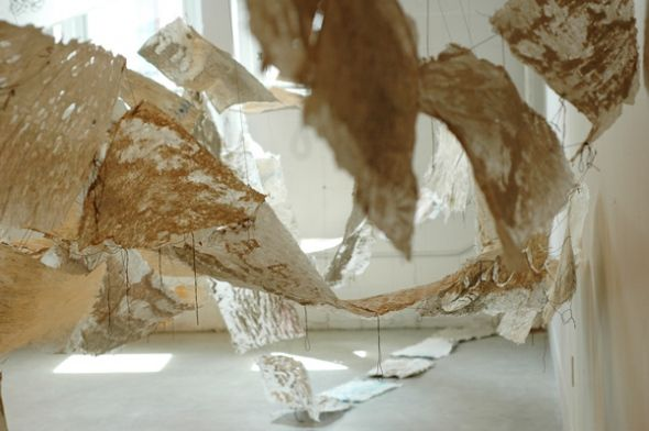Channels: A Collaborative Paper and Video Art Installation