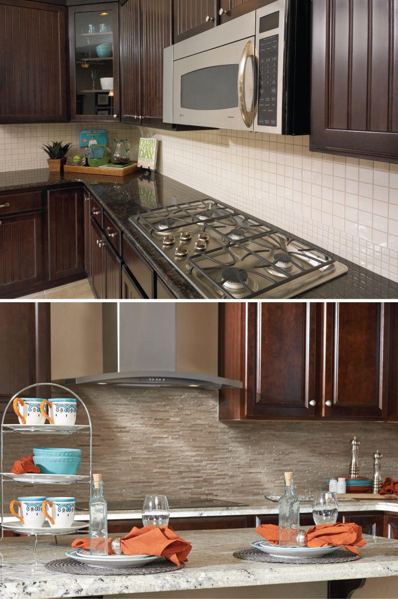 Which backsplash is more your style, stone or ceramic tile ...