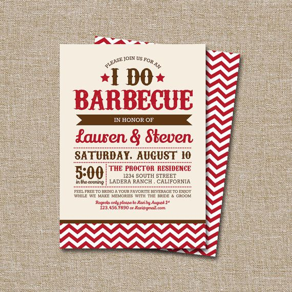 i do bbq invitation this listing is by jraecardart 15 00 my