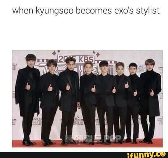 Kyungsoo dream's come true. He says in a radio show that he want to be a stylist