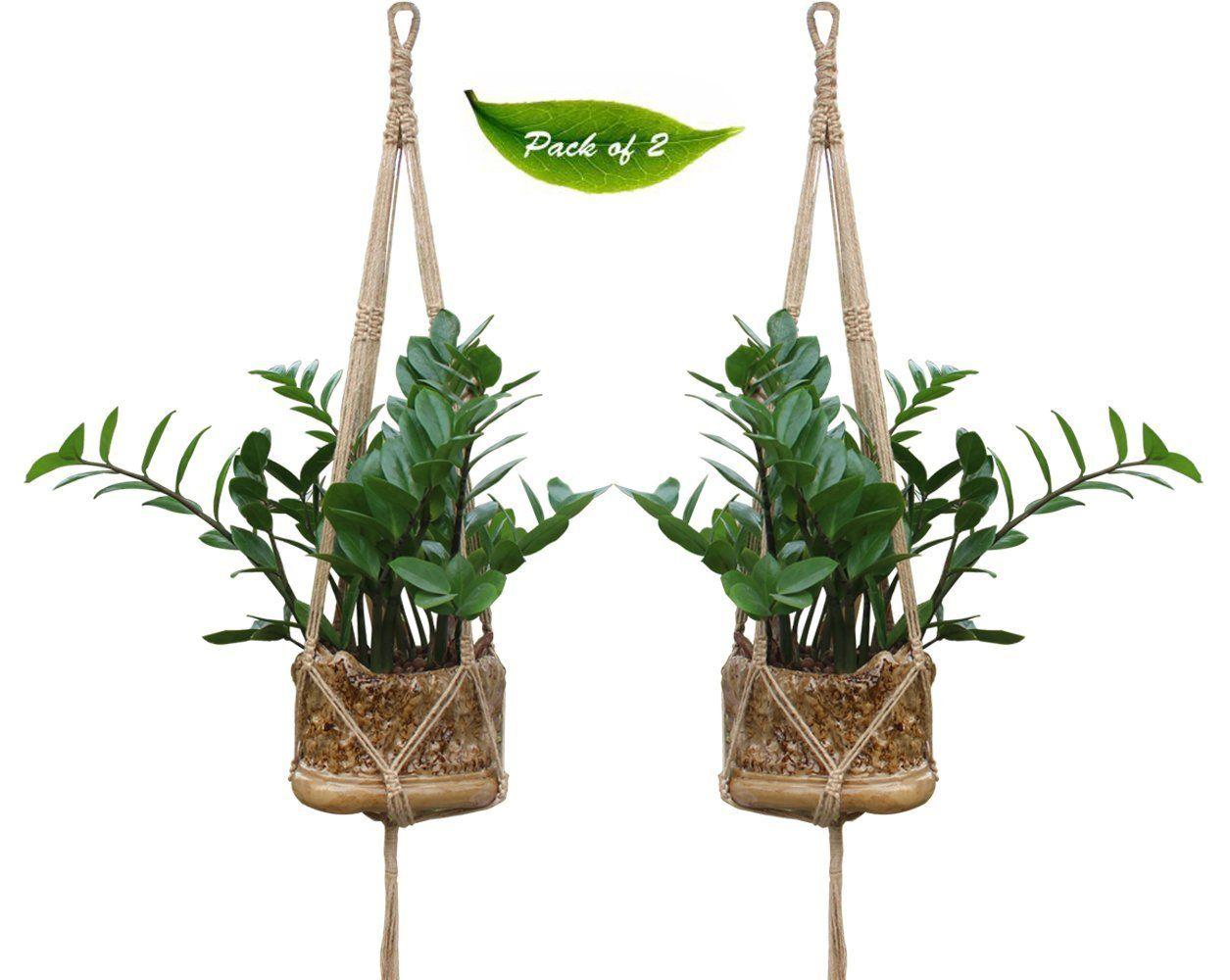 Suspension Pour Plantes D Intérieur kepoman suspension pour plantes en macramé jute/coton et
