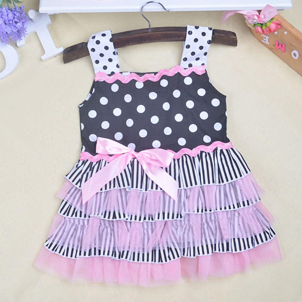 Moda lindo vestido Baby & Kids muchachas del vestido de punto ...