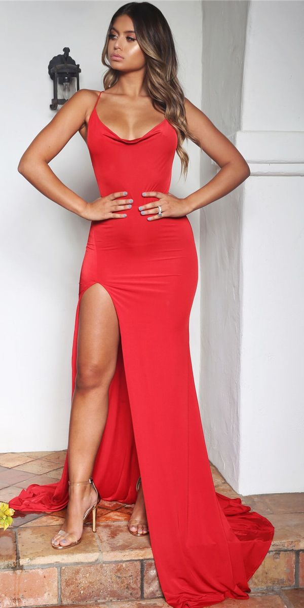 Hot Sale SpaghettiStraps Mermaid Prom Dress Long Maxi Dress With Slit - Elegant dresses long, Prom dresses long mermaid, Mermaid prom dresses, Maxi dress with slit, Maxi dress wedding, Dresses casual fall - Looking for the very best quality sexy mermaid prom dress with slit  Welcome to Luluslly com, we promise to give you the best price, fast delivery worldwide