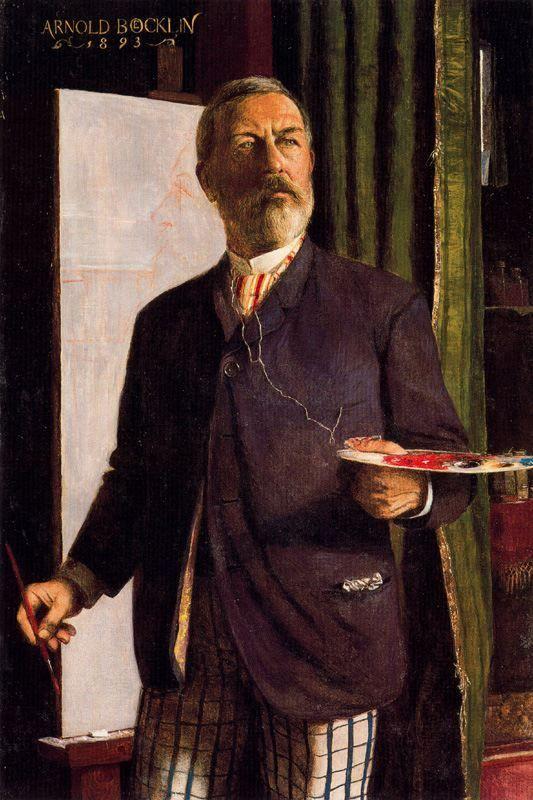 Self-Portrait in Studio, 1893  Arnold Böcklin, Kunstmuseum Basel