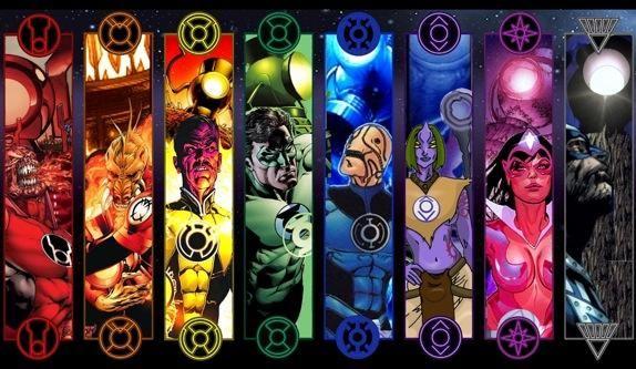 Atrocitus, Larfleeze, Sinestro, Hal Jordan, Saint Walker, Indigo-1, Star Saphire (Carol Ferris), Ray   Palmer (Anti-monitor)