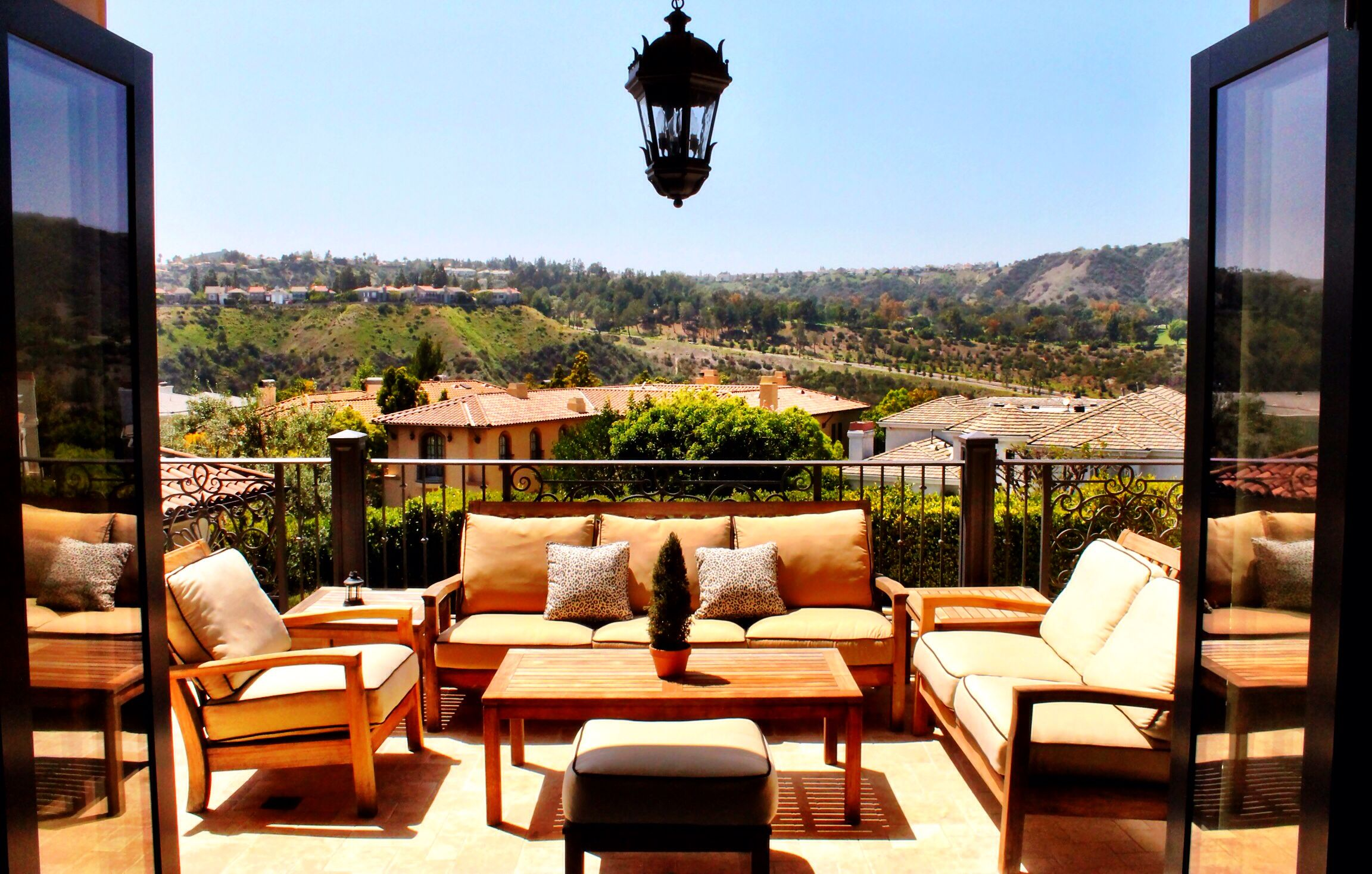 Enjoying the view in Bel Air Crest. Los angeles homes