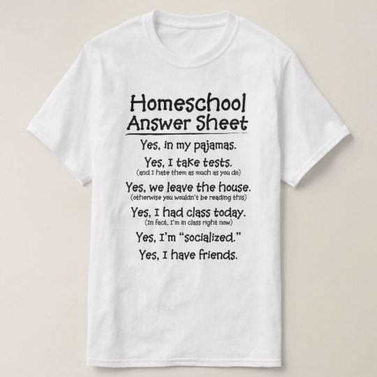 The Homeschool Answer Sheet T-shirt