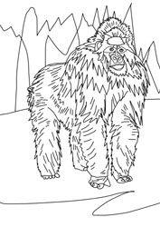 Gorillajpg (177×250) Ausmalbilder tiere Tiere