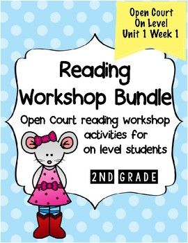 Second Grade Open Court Reading Workshop Bundle Unit 1 Week 1