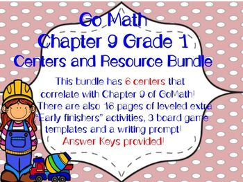In this bundle you will find 6 different centers that correlate with Chapter 9 of GoMath and the grade 1 Measurement CCStandards! There are also 16 pages of leveled extra Early finishers activities, 3 board game templates and a writing prompt! Answer keys are provided!