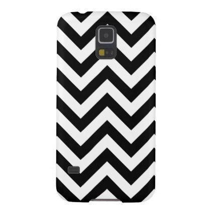 Black And White Chevron Pattern Galaxy S5 Case | Galaxy s5 case
