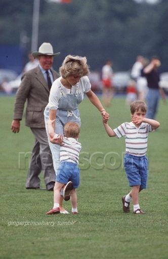 Diana with her active children