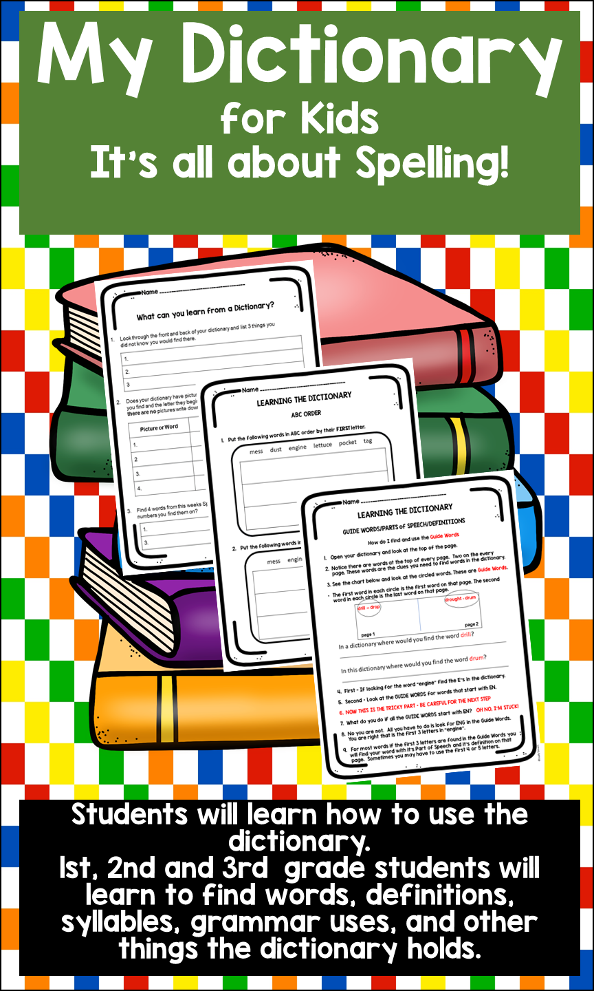 Learning How to Use the Dictionary | Dictionary for kids. Guide words. All about spelling
