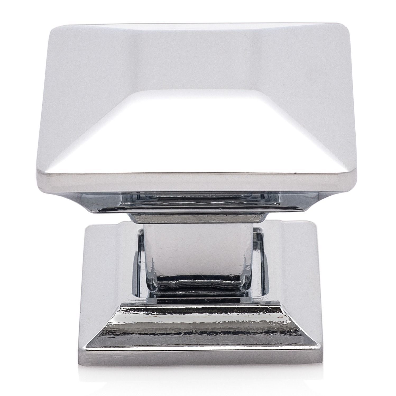 Southern Hills Polished Chrome (Grey) Cabinet Knobs \u0027Arcadia\u0027 (Pack