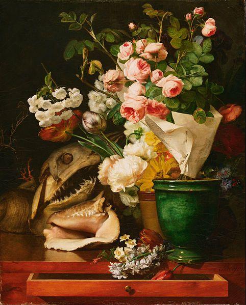 File:Antoine Berjon, French - Still Life with Flowers, Shells, a Shark's Head, and Petrifications - Google Art Project.jpg