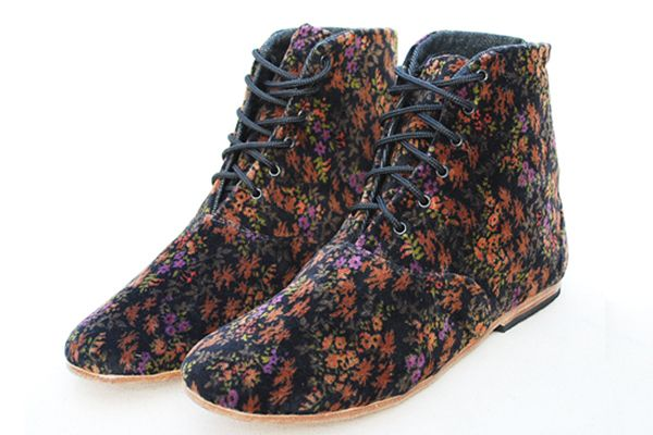 Osborn floral velvet booties. Perfection.