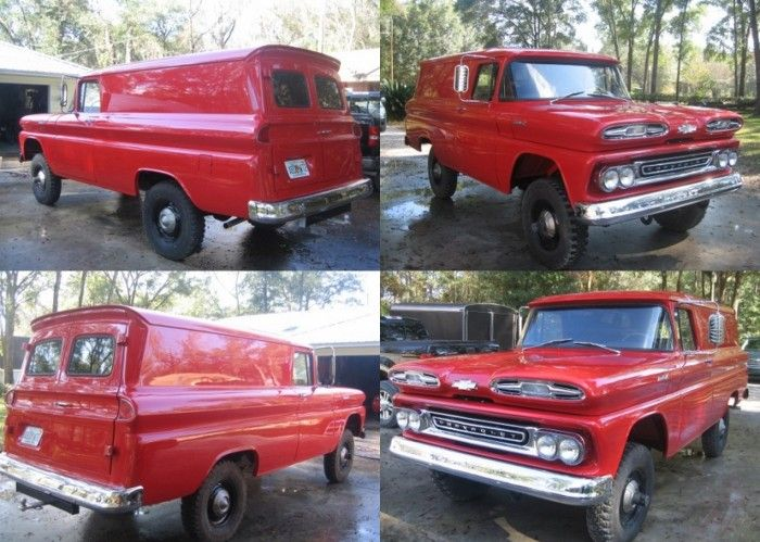 1961 Chevy Apache 4x4 Panel Truck Panel Truck Chevy Apache Chevy