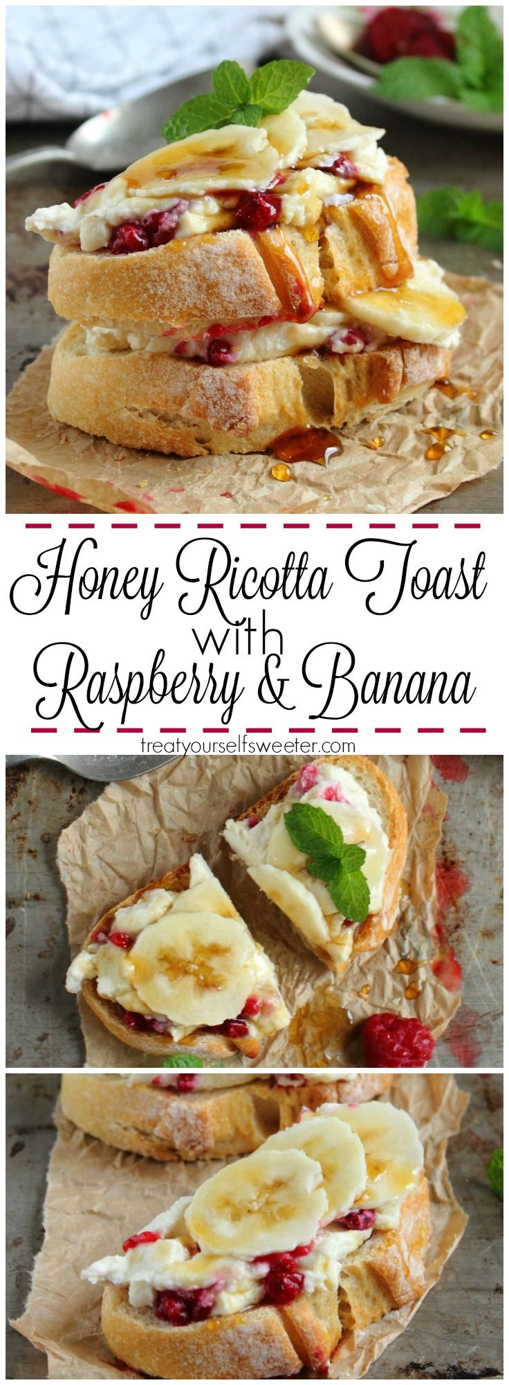 Honey Ricotta Toasties; creamy, sweet, crunchy and quick to make. The perfect for breakfast tomorrow!