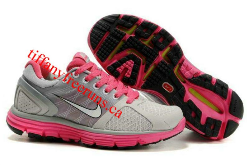 half off 57c37 80c39 Womens Nike Lunarglide 2 Gray Pink Shoes