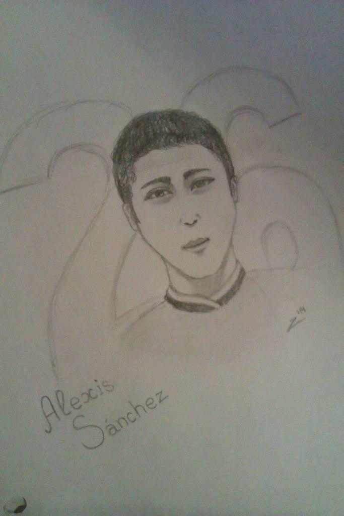 Happy Birthday, Alexis Sanchez #Sancez #young #art
