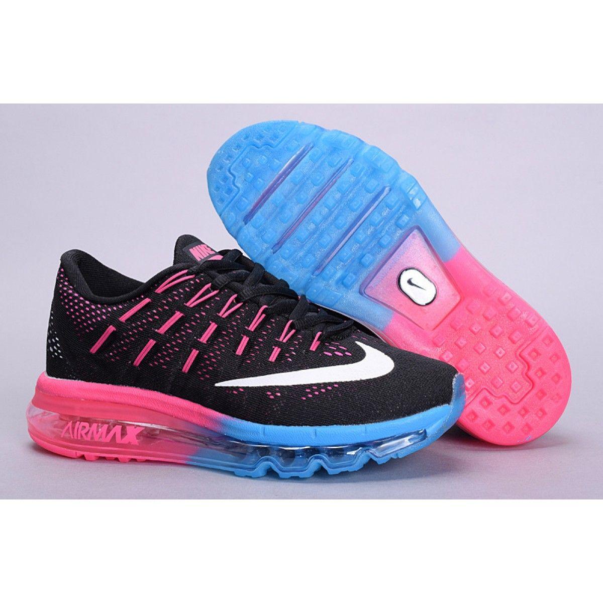 uk availability d489d ebcc2 Acheter Vente nouvelle collection Chaussures Nike  Airmax2016Noir Rose Bleu  Femme Pas Cher en Ligne http