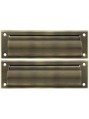 Solid Brass Letter Size Mail Slot With Closed Backplate Mail Slots Antique Hardware Solid Brass