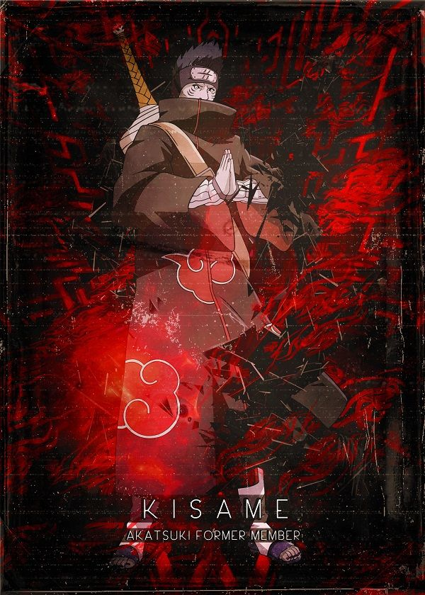 Naruto Shippuden Red Cloud Characters Displate Posters