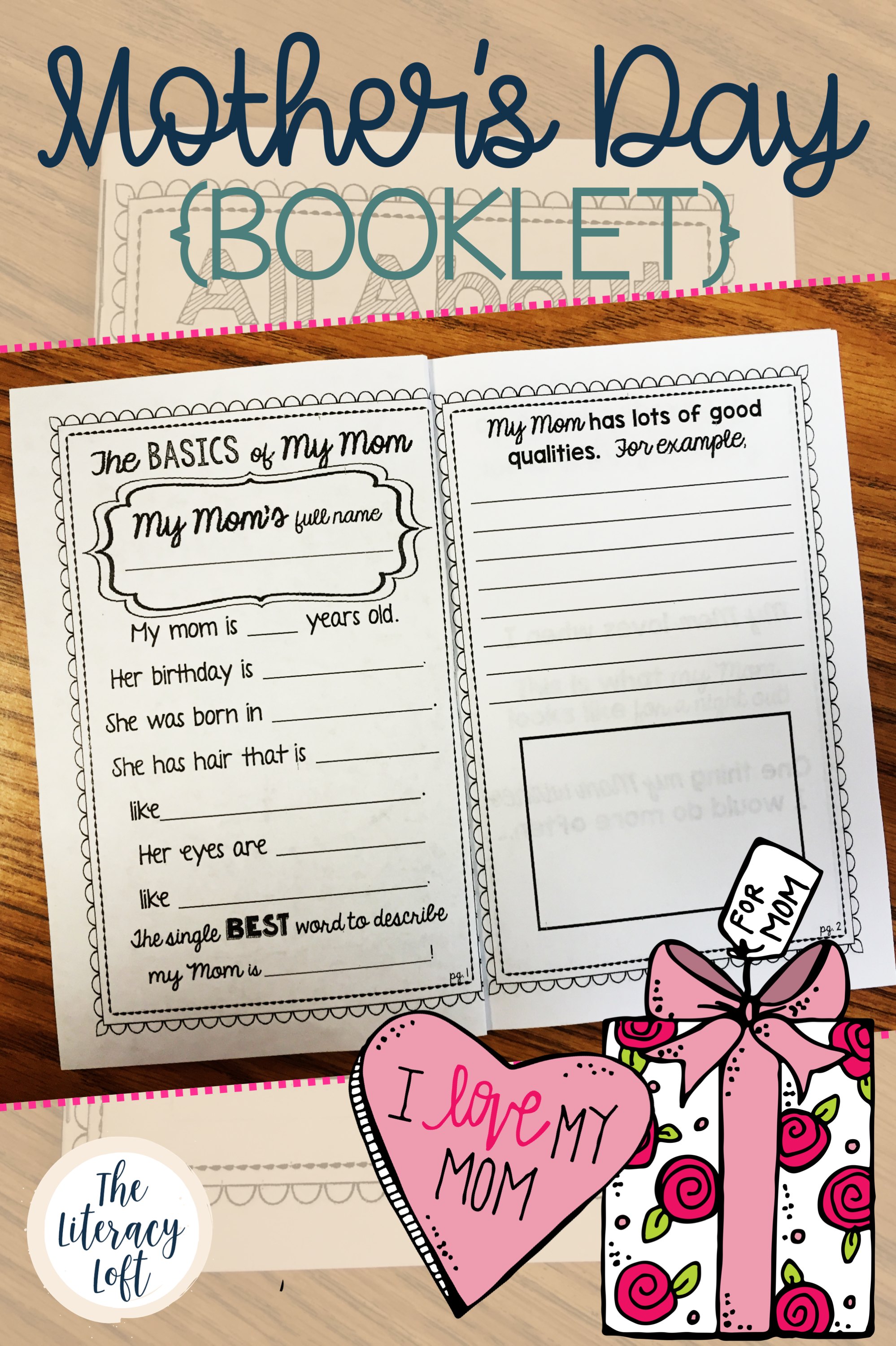 Mother S Day Booklet All About My Mom School Gifts Booklet Language Arts Lessons