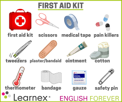 First Aid Kit Is One Of Medical Tools Coloring Page : Coloring Sky ... | 206x245