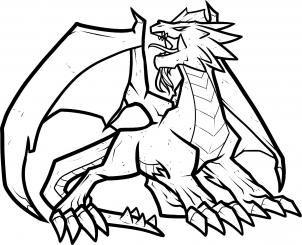 How To Draw A Fire Dragon Fire Dragon Red Dragon Step By Step Dragons Draw A Dragon Fantasy Free Online Drawing Tu Dragon Drawing Dragon Art Fire Dragon
