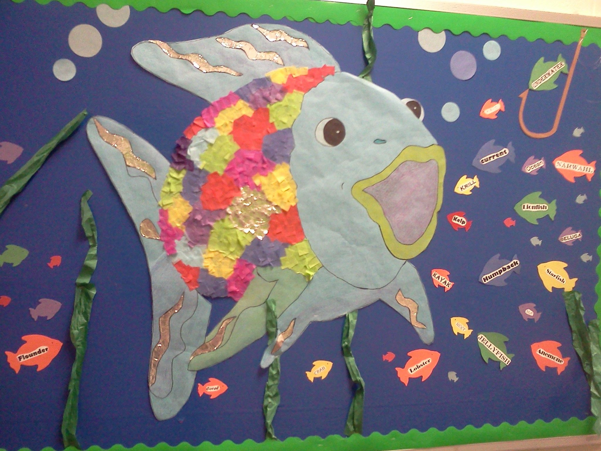 Under The Sea Bulletin Board We Could Read Rainbow Fish
