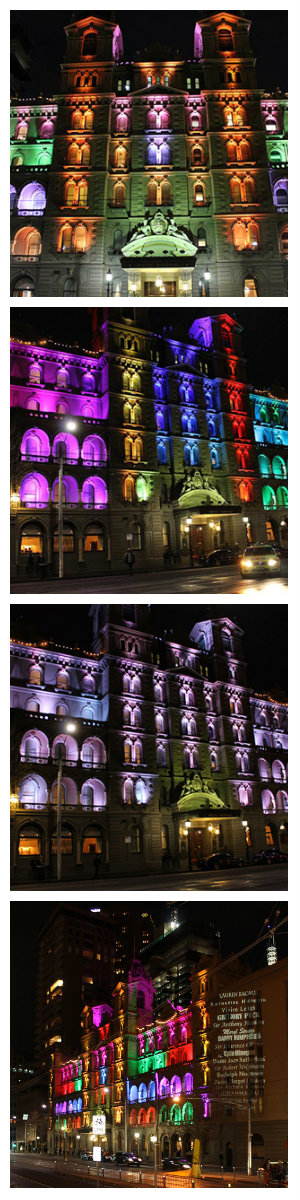 В рамках празднования 130-летия исторический фасад Windsor Hotel в Мельбурне засиял