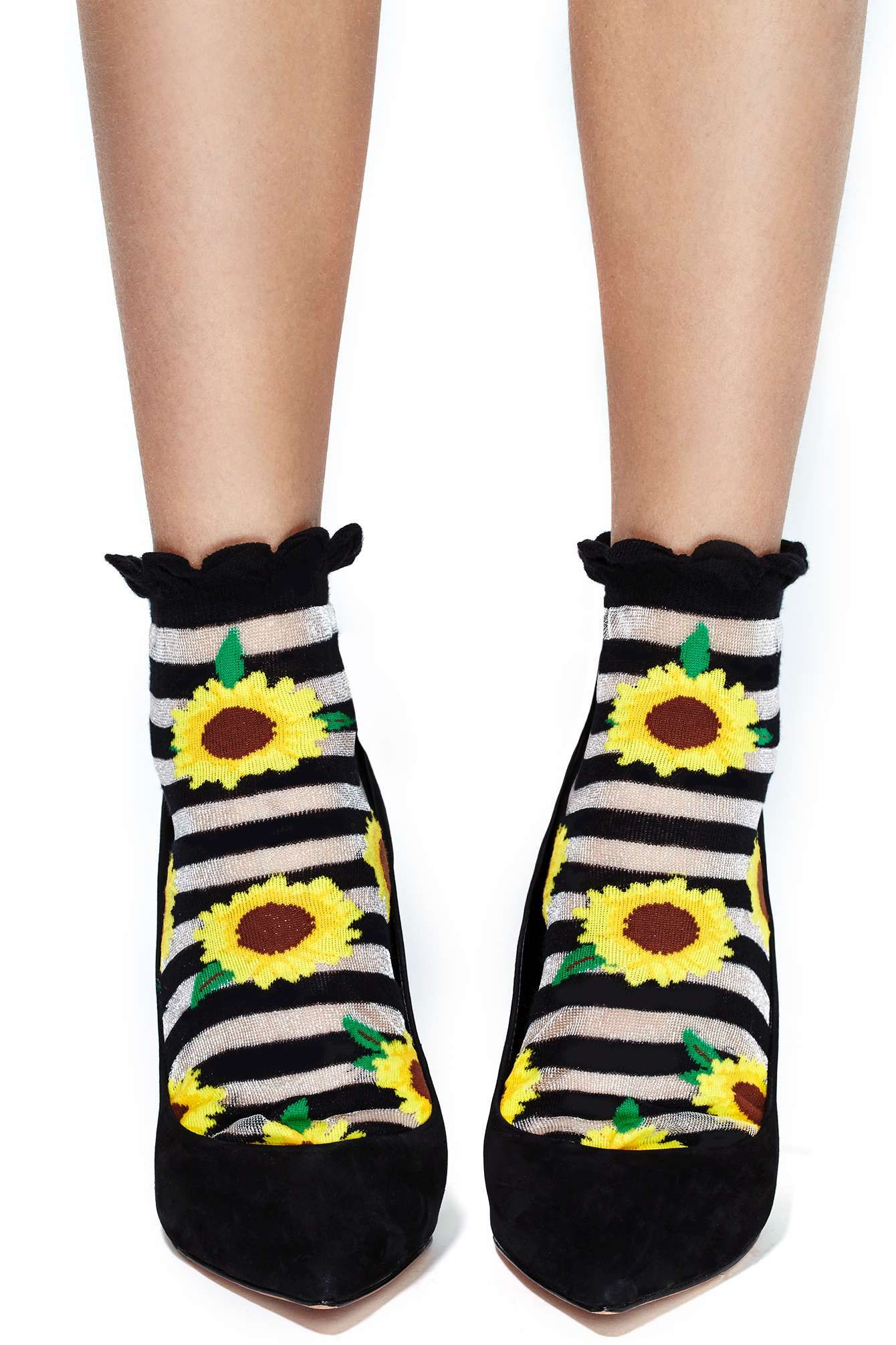Sunflower Ankle Socks at Nasty Gal