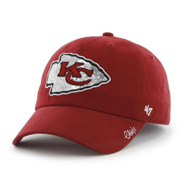 fcac8c27f Kansas City Chiefs Sparkle Team Color Clean Up Red 47 Brand Womens ...