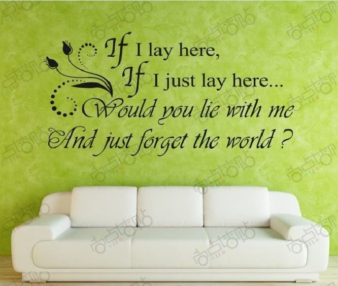 Romantic Removable PVC Word Wall Art Sticker DIY Decal Quotes ...