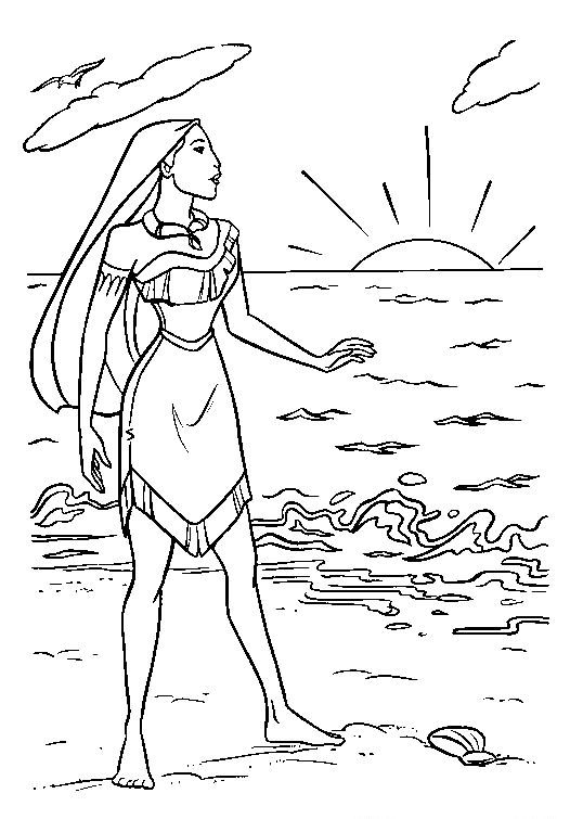Disney Pocahontas Coloring Pages - http://fullcoloring.com/disney ...