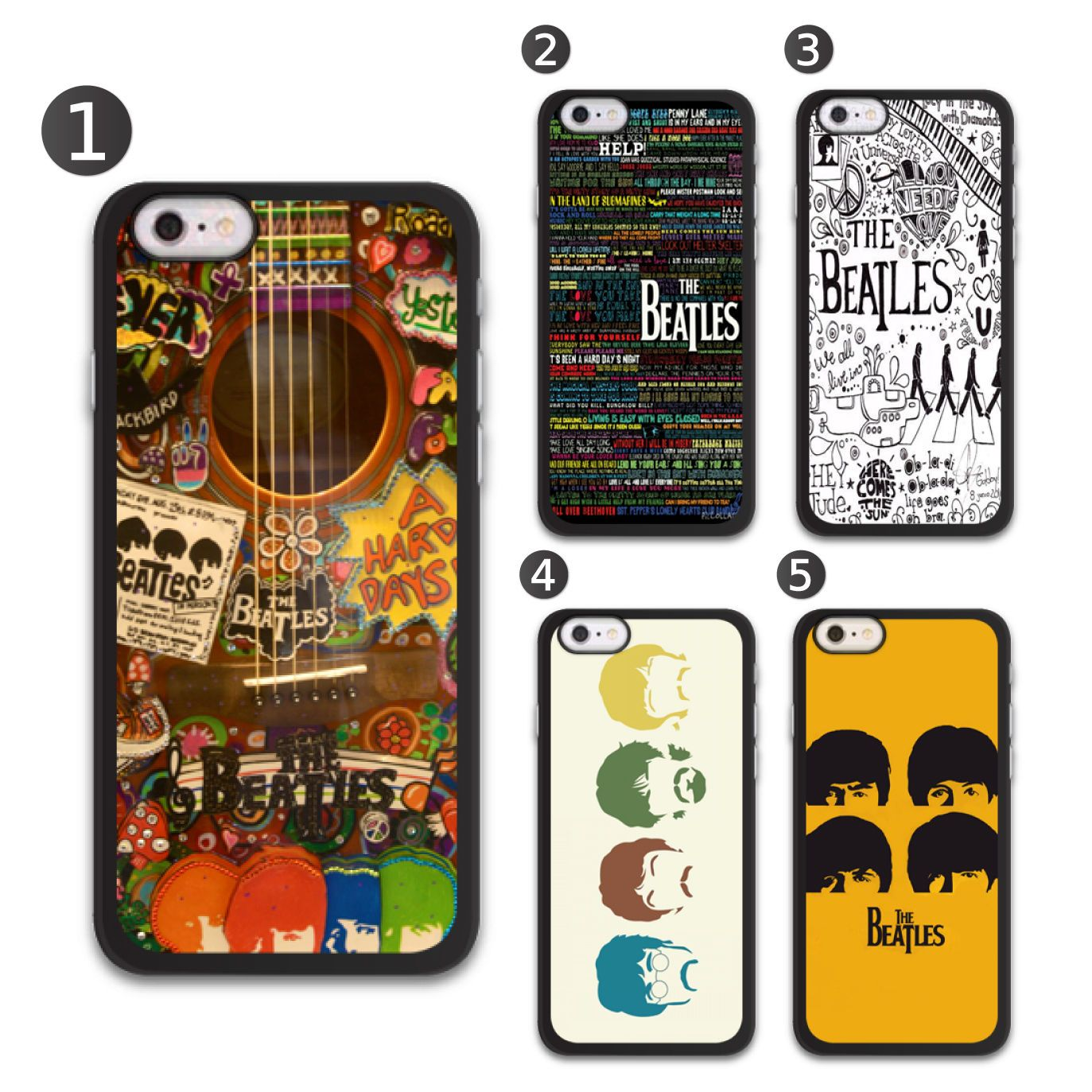 Beatles Collection Phone Case Cover For Apple Iphone And Samsung