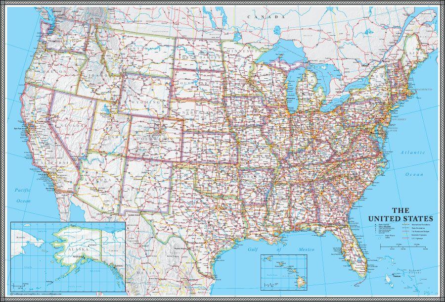 USA Classic Map 50 States US US Maps Pinterest 50 states
