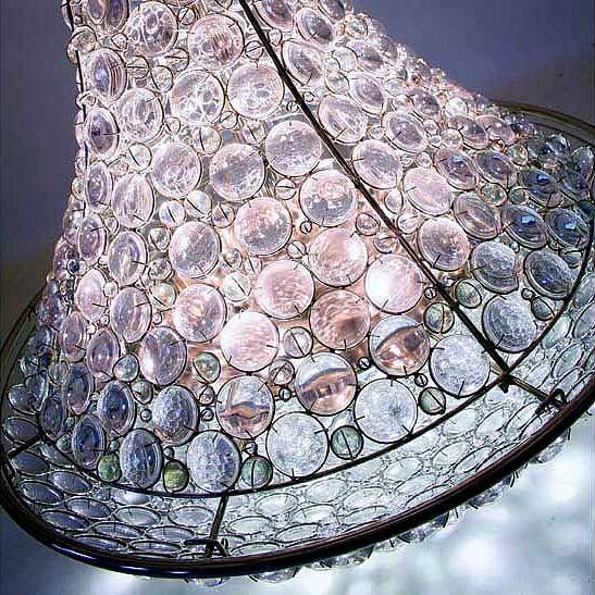 Giant chandelier handmade giant chandelier detail of glass lenses giant chandelier handmade giant chandelier detail of glass lenses and iron filigree unique artisan chandeliers and handmade lighting aloadofball Gallery