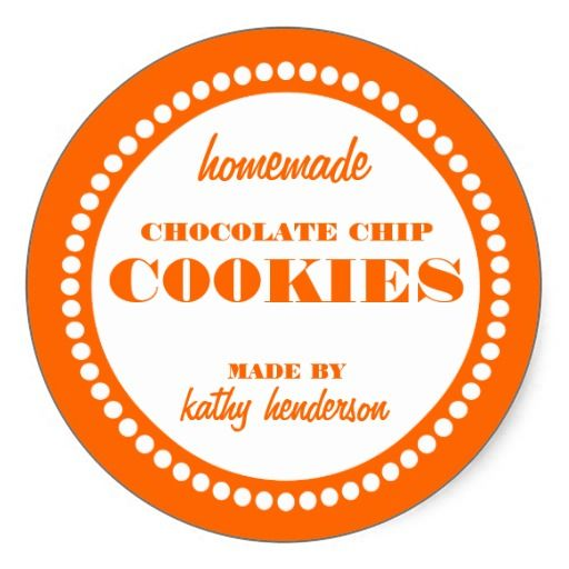 Round Dot Chocolate Chip Cookie Label Template Label Templates Diy Labels Round Sticker Labels