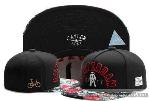 b29559a146b Cayler   Sons Amsterdam City Snapback Hats Latest Fashion Caps Black Visor  Flora 602