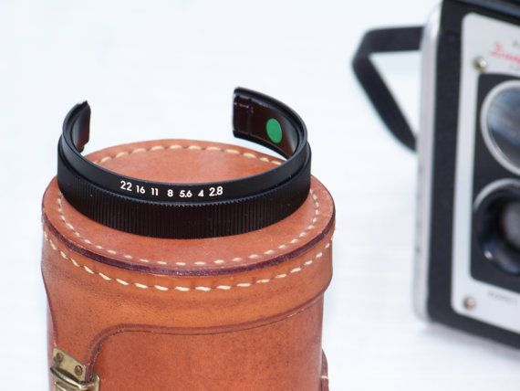 Minimalist FStop Camera Lens Cuff by RevisionistDesigns