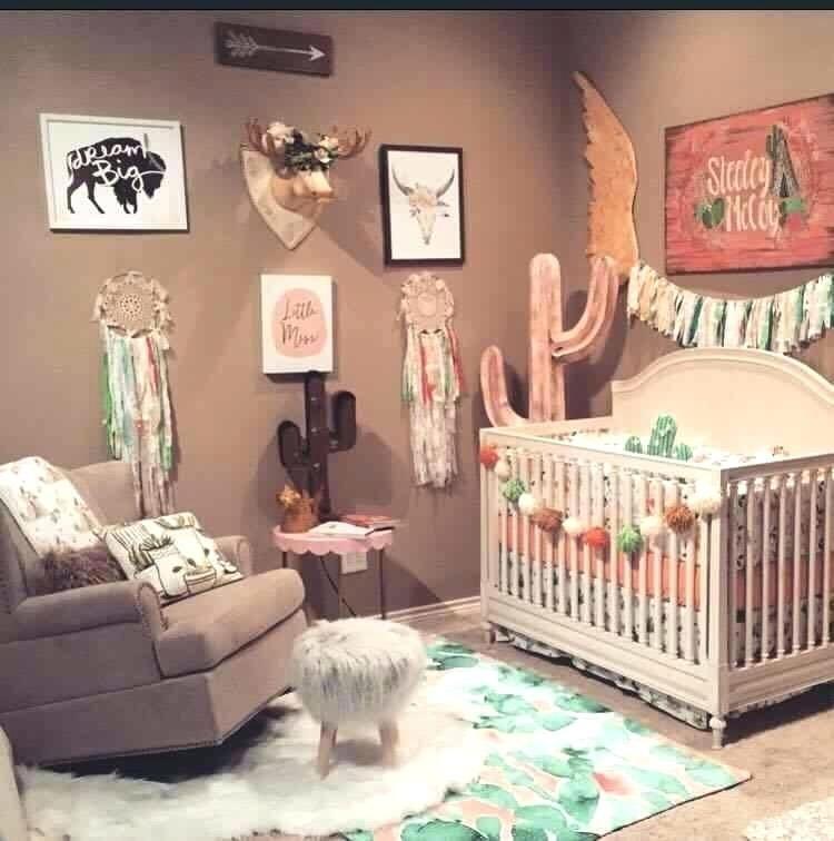 Western Themed Nursery Western Themed Crib Bedding Western Themed Girl Nursery Room Baby Girl Room Baby Girl Nursery Room