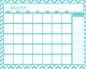 FREE Printable Monthly Calendar - All About the Mommies | 're-new ...