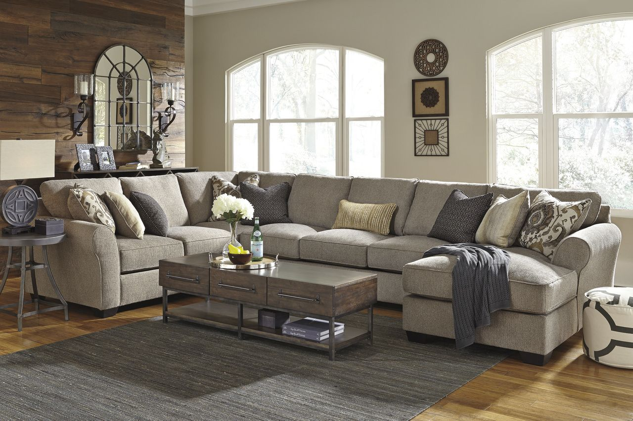 Ashley Furniture Pantomine 39102 Driftwood Color Modular Sectional In Tampa Cheap Living Room Sets Furniture Living Room Designs