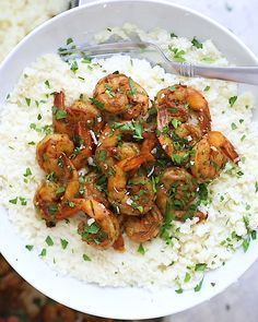 Photo of Pair cauliflower grits with blackened shrimp to make a lightened up low-carb ver…