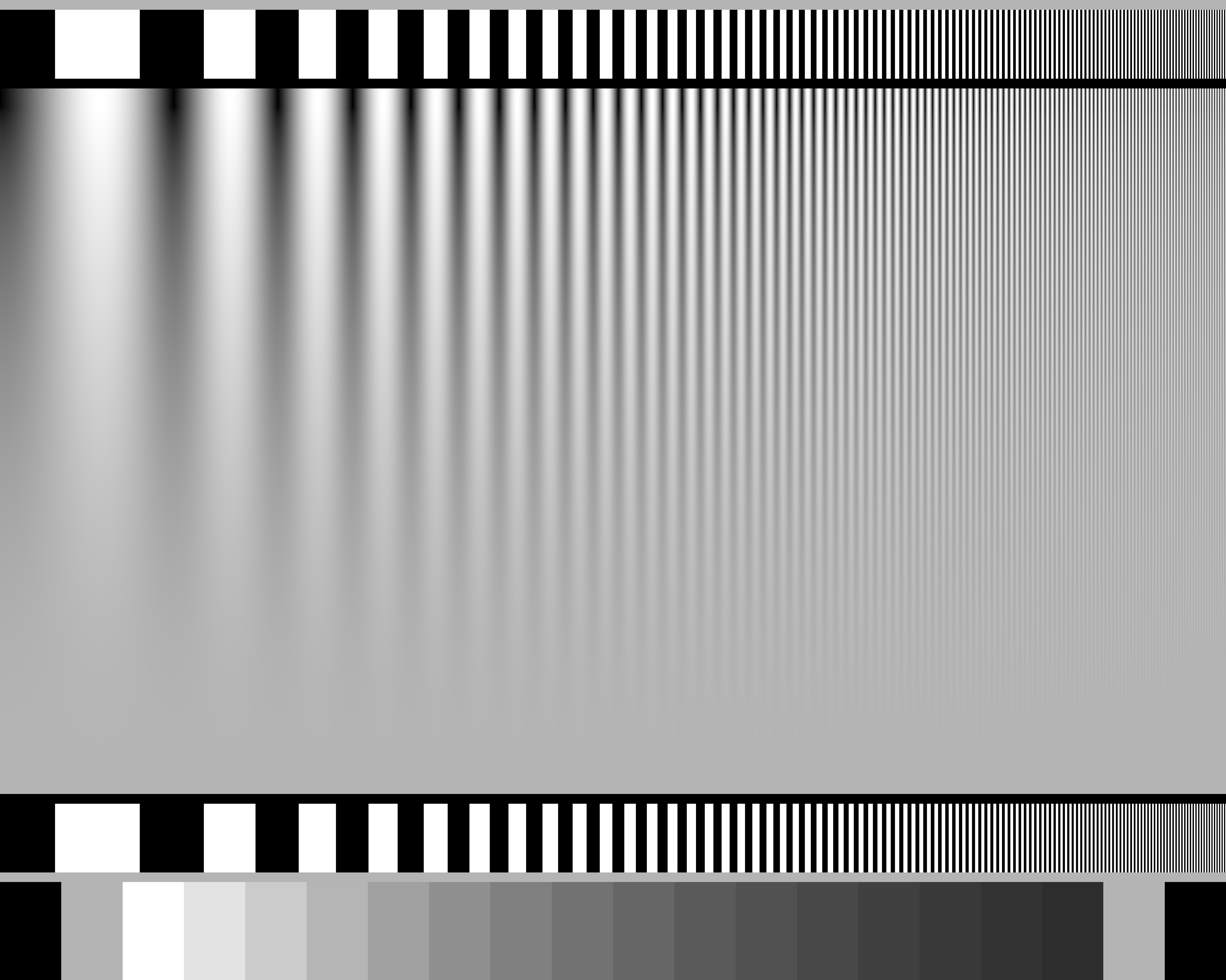 Bars  http://www.bealecorner.org/red/test-patterns/Linear-ZonePlate.png