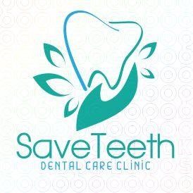 Exclusive Customizable Logo For Sale Save Teeth Stocklogos Com Dental Logo Design Dental Clinic Logo Dental Logo